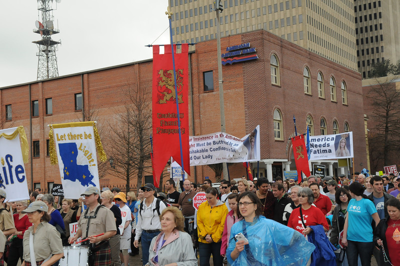 Pro-lifers prayed the Rosary during the Louisiana Life March asking the Blessed Mother to end the scourge of abortion in America