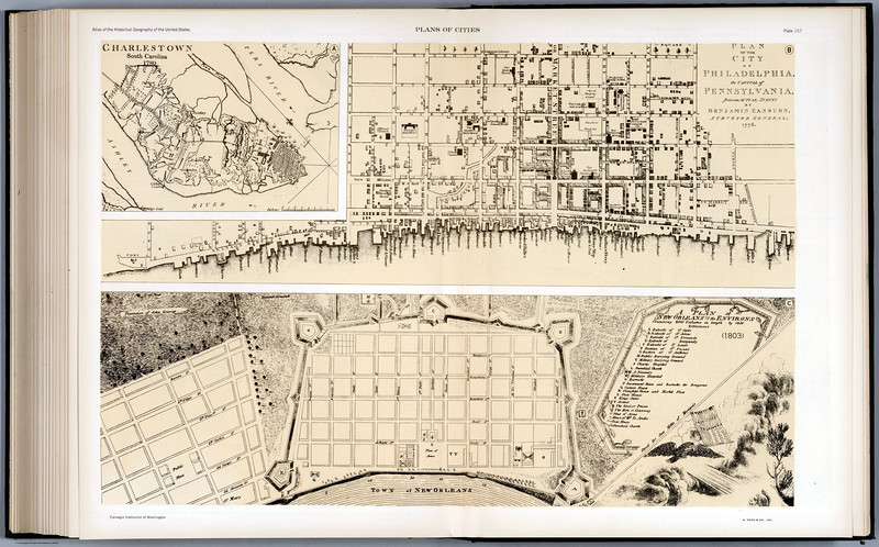 Map of New Orleans old 1815