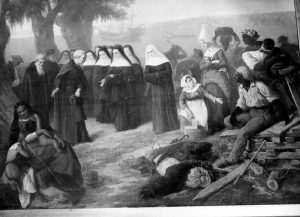 The arrival of the Ursulines in New Orleans