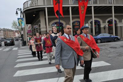 Call to Chivalry pilgrimage through New Orleans