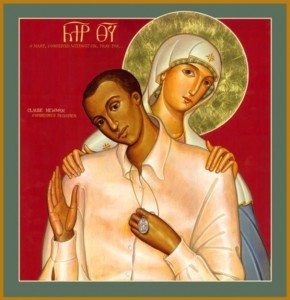 Icon of Claude Newman and Our Lady