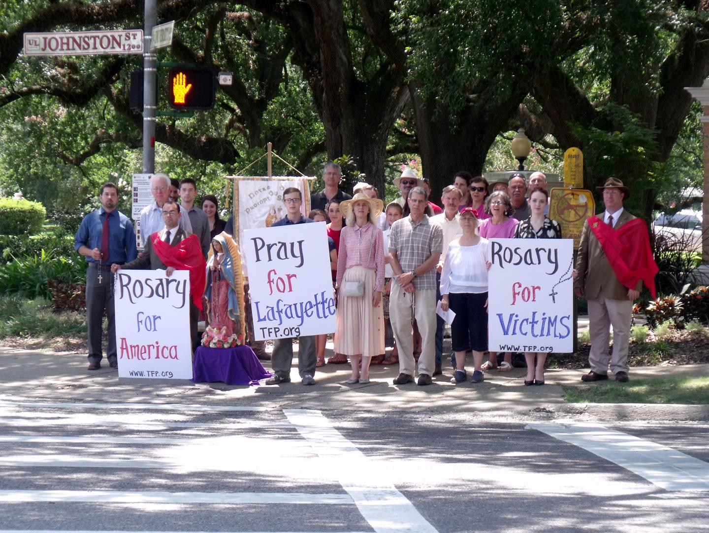 Public Square Rosary in Lafayette