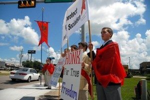 Anti-socialist protest