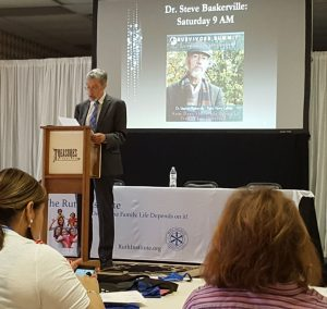 Speaker Dr. Steve Baskerville at Summit of the Survivors of the Sexual Revolution