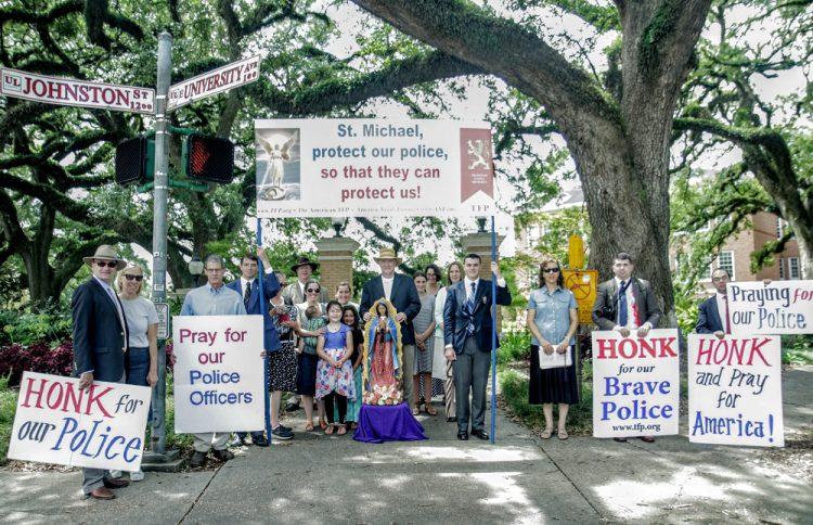 Pro-Police Rally, Lafayette, Louisiana